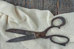 Tesouras velhas do alfaiate Imagem de Stock