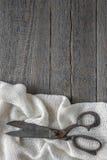 Tesouras velhas do alfaiate Foto de Stock Royalty Free