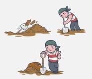 Tesouro de escavação Imagem de Stock Royalty Free