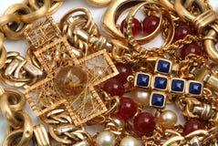Tesouro dourado foto de stock