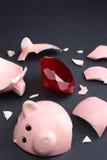 Tesouro em um banco Piggy foto de stock