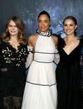 Tessa Thompson, Jennifer Jason Leigh et Natalie Portman Photo libre de droits