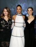 Tessa Thompson, Jennifer Jason Leigh et Natalie Portman Photo libre de droits