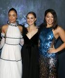 Tessa Thompson, Natalie Portman et Gina Rodriguez Image stock