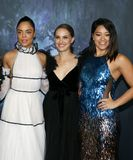 Tessa Thompson, Natalie Portman and Gina Rodriguez Stock Image