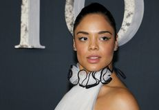 Tessa Thompson. At the Los Angeles premiere of `Annihilation` held at the Regency Village Theater in Westwood, USA on February 13, 2018 Stock Photography