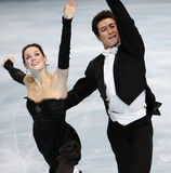 Tessa Virtue en Scott Moir (KAN) stock foto's