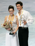 Tessa Virtue en Scott Moir winnen goud (KAN) Royalty-vrije Stock Fotografie