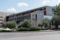 Tessalónica, Grécia - 4 de setembro de 2016: Construções da câmara municipal de Tessalónica Foto de Stock