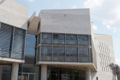 Tessalónica, Grécia - 4 de setembro de 2016: Detalhe da construção da câmara municipal de Tessalónica Fotografia de Stock Royalty Free