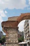Tessalónica, Grécia - 4 de setembro de 2016: O arco do detalhe do imperador de Galerius Fotos de Stock Royalty Free