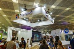 Tessalónica, Grécia dentro do pavilhão dos EUA com empresas e os visitantes americanos na 83rd feira internacional Fotos de Stock