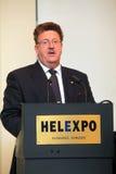ó Reunião da presença Grego-Alemão Hans Joachim Fuchtel Imagem de Stock