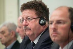 ó Reunião da presença Grego-Alemão Hans Joachim Fuchtel Foto de Stock Royalty Free