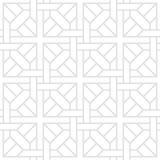 Tesselate o teste padrão de Gray Geometric Shapes em um fundo branco Fotos de Stock