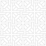 Tesselate Pattern of Gray Geometric Shapes on a White Background Stock Photos