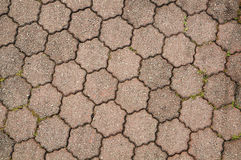 Tessellated Design On Pavement. This Design Is Based On Hexagon Joining Each Other Stock Photography