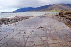 Tessellated pavement. The natural phenomenon of tessellated pavement in Tasmania Stock Image
