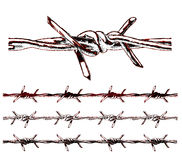 Tessellating Barbed Wire Elements royalty free stock photos
