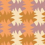 Tessellation abstracto amarillo y marrón colorido de la geometría fotografía de archivo libre de regalías
