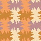 Tessellation abstrait jaune et brun coloré de la géométrie photographie stock libre de droits