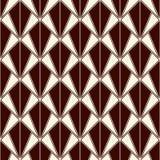 Tessellation de los triángulos que entrelaza Impresión contemporánea con las conchas de peregrino repetidas Modelo inconsútil con Imagen de archivo
