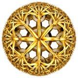 Tessellation hiperbólico de oro stock de ilustración