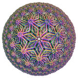 Tessellazione iperbolica colorata Fotografia Stock