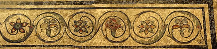 Tessera in villa antica di Romain fotografia stock libera da diritti