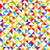 Tessere dell'arcobaleno, fondo geometrico astratto, modello senza cuciture di vettore Immagine Stock