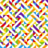 Tessere dell'arcobaleno, fondo geometrico astratto, modello senza cuciture di vettore Fotografia Stock Libera da Diritti