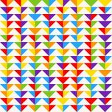 Tessere dell'arcobaleno, fondo geometrico astratto, modello senza cuciture di vettore Fotografie Stock