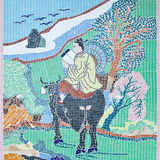 Tessere della parete di stile cinese Immagini Stock