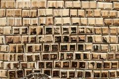 Tessere dorate fondo, struttura Fotografie Stock Libere da Diritti