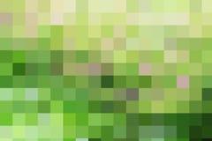 Tessere quadrate geometriche di colore verde astratto di marrone giallo Fotografia Stock