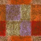Tessi il modello senza cuciture lanuginoso barrato lerciume per tappeto, il plaid, stuoia illustrazione vettoriale