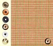 Tessile checkered classica Immagine Stock Libera da Diritti