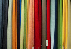 Tessile da vendere Fotografie Stock