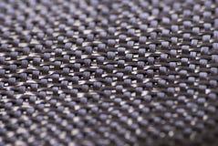 Tessile del tessuto della fibra del carbonio Fotografia Stock