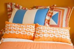 Tessile giovanili variopinte luminose della camera da letto Immagine Stock Libera da Diritti