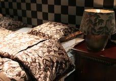 Tessile per la camera da letto Fotografia Stock
