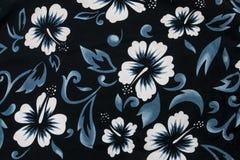 Tessile senza giunte del tessuto del fiore dell'ibisco Fotografia Stock Libera da Diritti