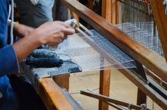 Tessitore sul lavoro Fotografia Stock