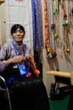 Tessitore tibetano, 2013 WCIF Fotografia Stock Libera da Diritti