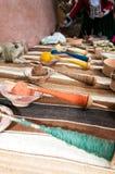 Tessitura tradizionale nelle montagne delle Ande, Perù della mano Immagini Stock