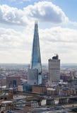 Tesson de glace Ville du panorama de Londres, vue de cathédrale de St Paul Photos stock