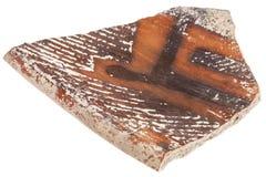 Tesson de poterie d'argile d'Anasazi Images libres de droits