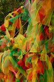 Tessuti colorati Fotografia Stock