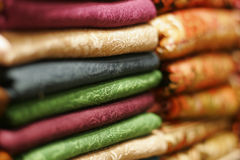 Tessuti colorati Turchia tipica Fotografie Stock