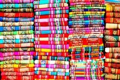 Tessuti Colourful Fotografia Stock Libera da Diritti